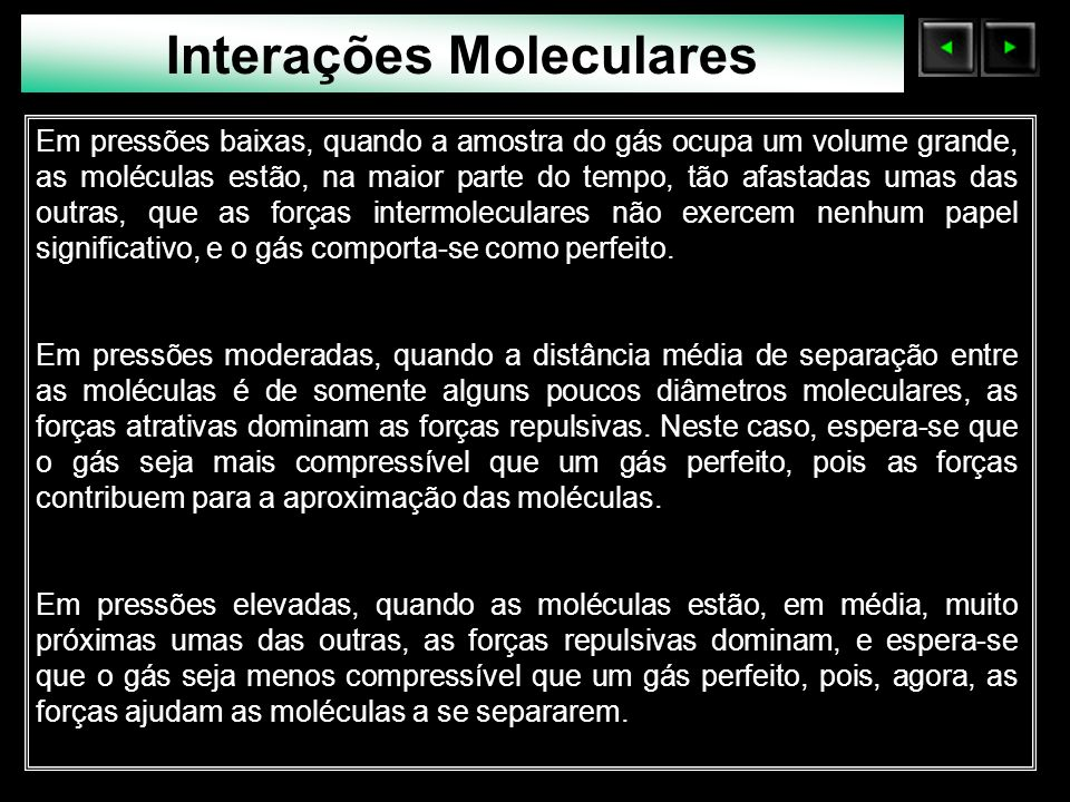 Interações Moleculares