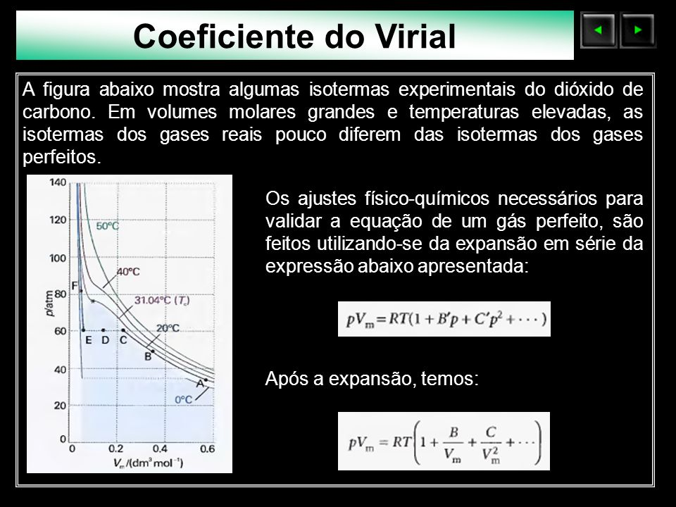 Coeficiente do Virial Sólidos Moleculares