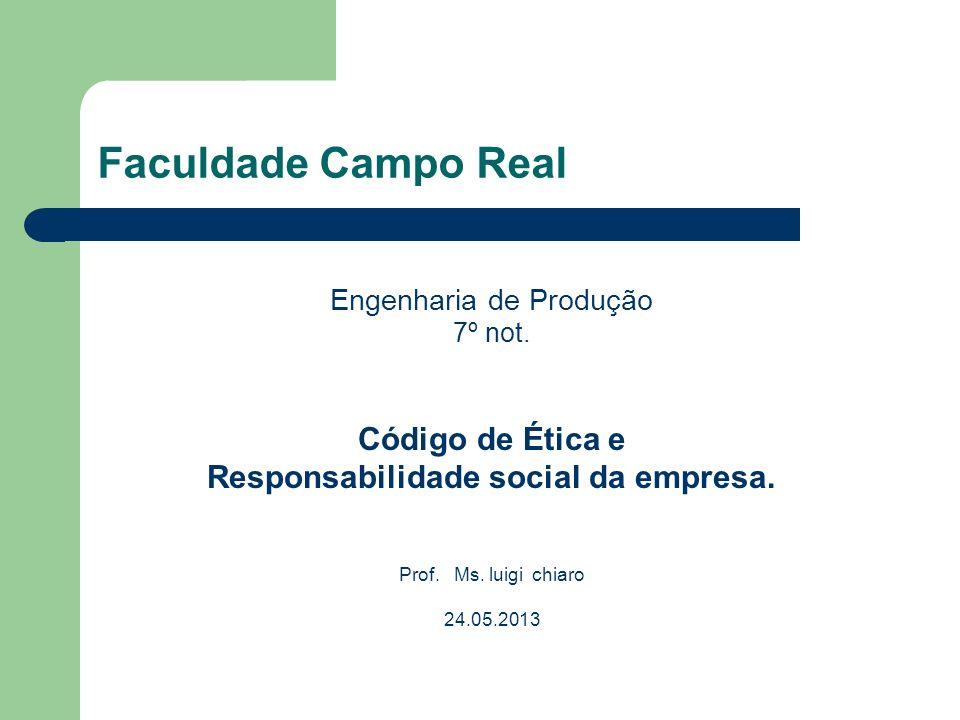 Faculdade Campo Real Código de Ética e