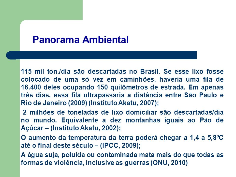 Panorama Ambiental