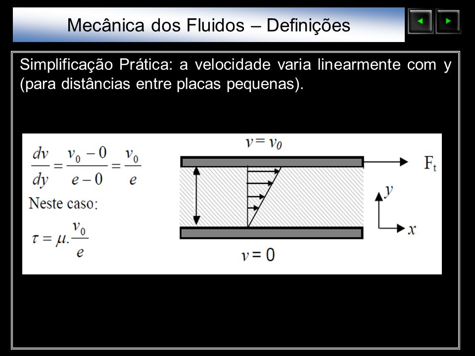 Mecânica dos Fluidos – Definições