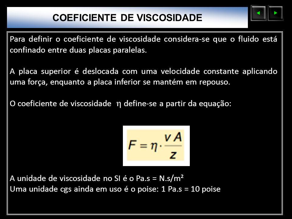 COEFICIENTE DE VISCOSIDADE