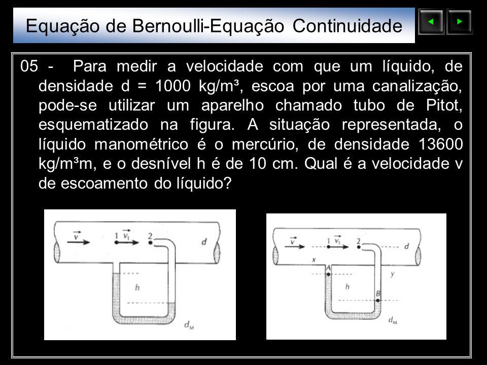 Equação de Bernoulli-Equação Continuidade