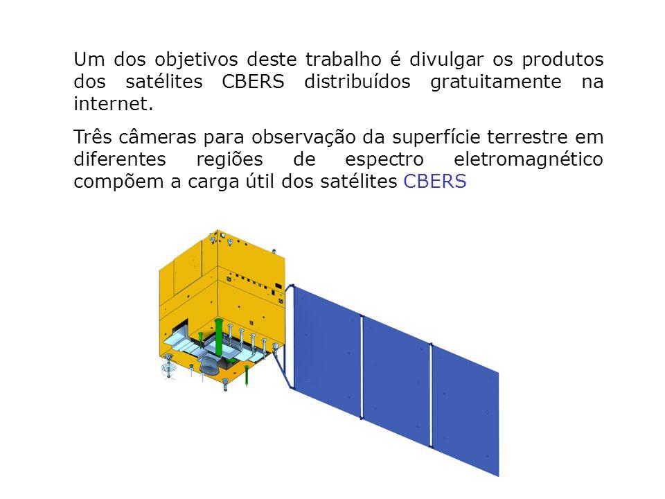 Um dos objetivos deste trabalho é divulgar os produtos dos satélites CBERS distribuídos gratuitamente na internet.