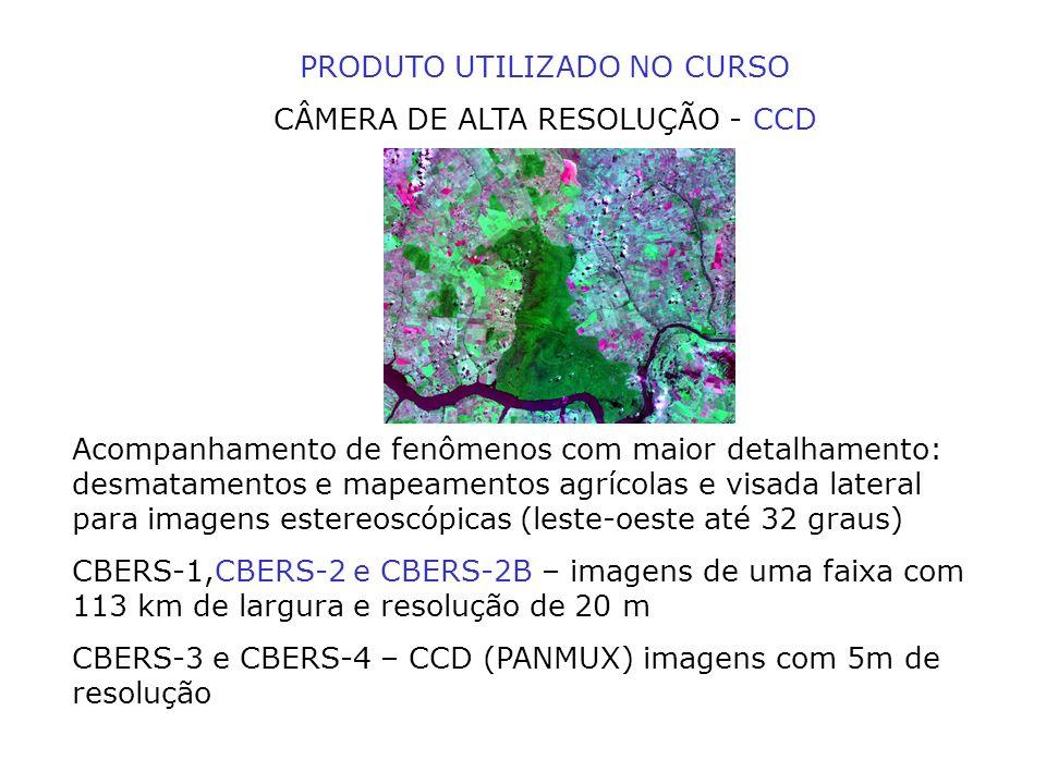 PRODUTO UTILIZADO NO CURSO CÂMERA DE ALTA RESOLUÇÃO - CCD