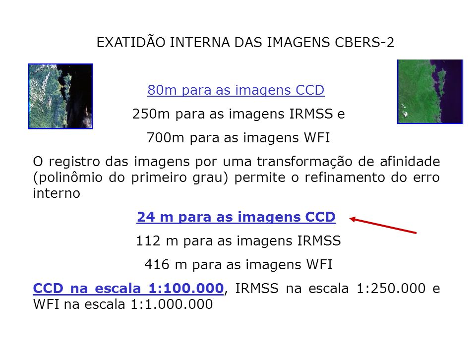 EXATIDÃO INTERNA DAS IMAGENS CBERS-2