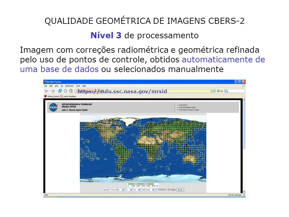 QUALIDADE GEOMÉTRICA DE IMAGENS CBERS-2 Nível 3 de processamento