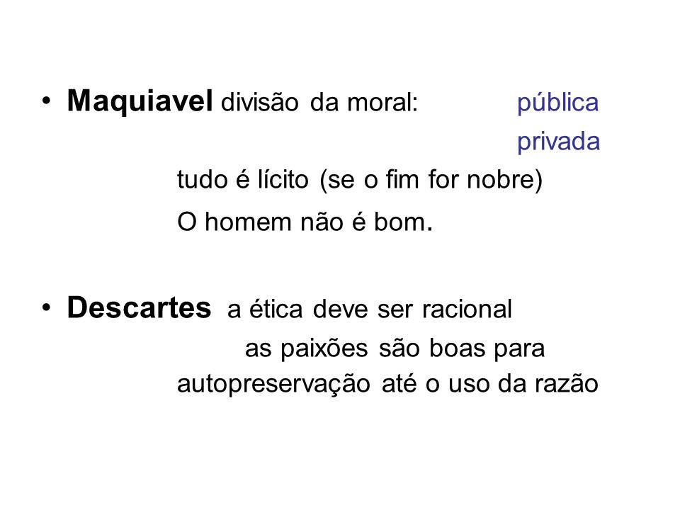 Maquiavel divisão da moral: pública