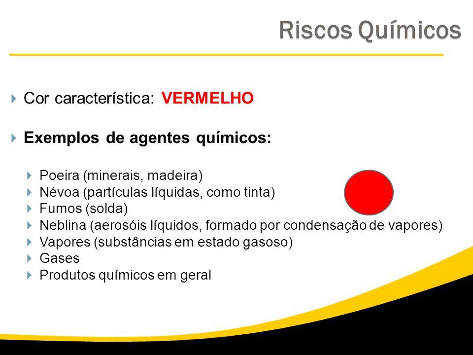 Riscos Químicos Cor característica: VERMELHO