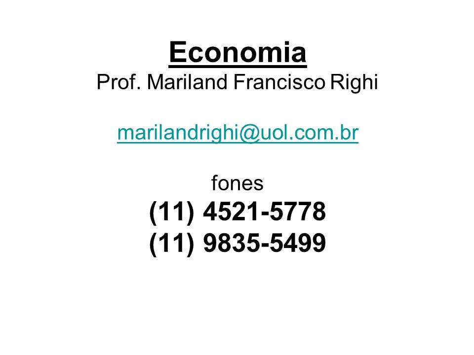 Economia Prof. Mariland Francisco Righi marilandrighi@uol. com
