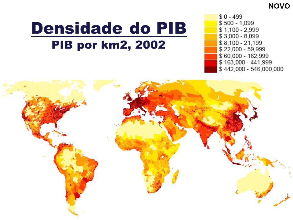 Densidade do PIB PIB por km2, 2002