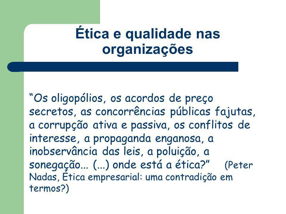 Ética e qualidade nas organizações