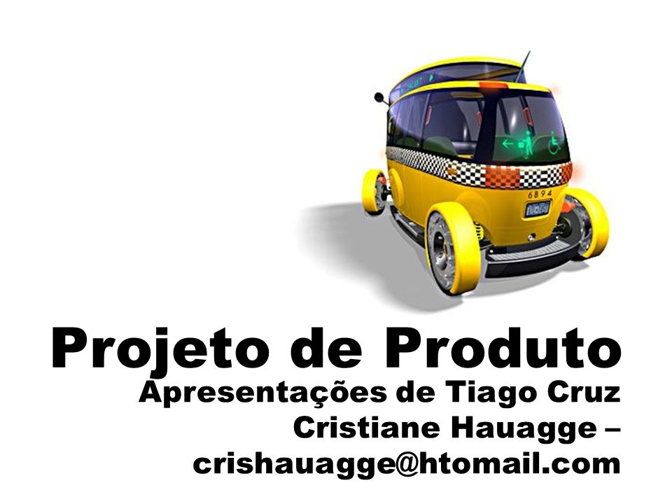 Projeto de Produto Apresentações de Tiago Cruz