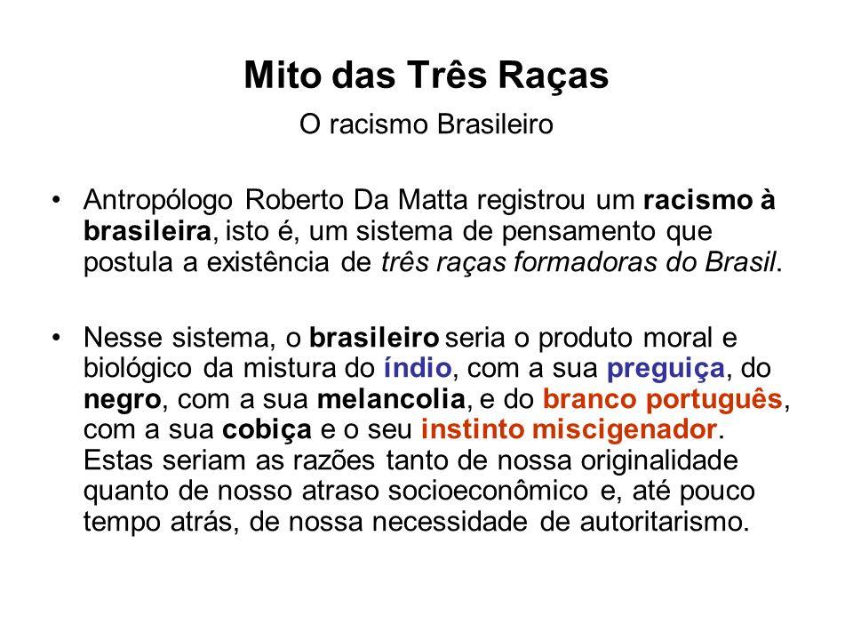 Mito das Três Raças O racismo Brasileiro