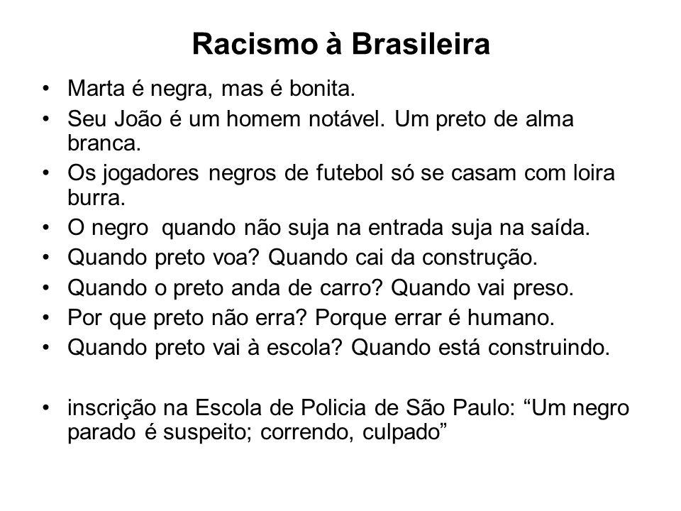 Racismo à Brasileira Marta é negra, mas é bonita.