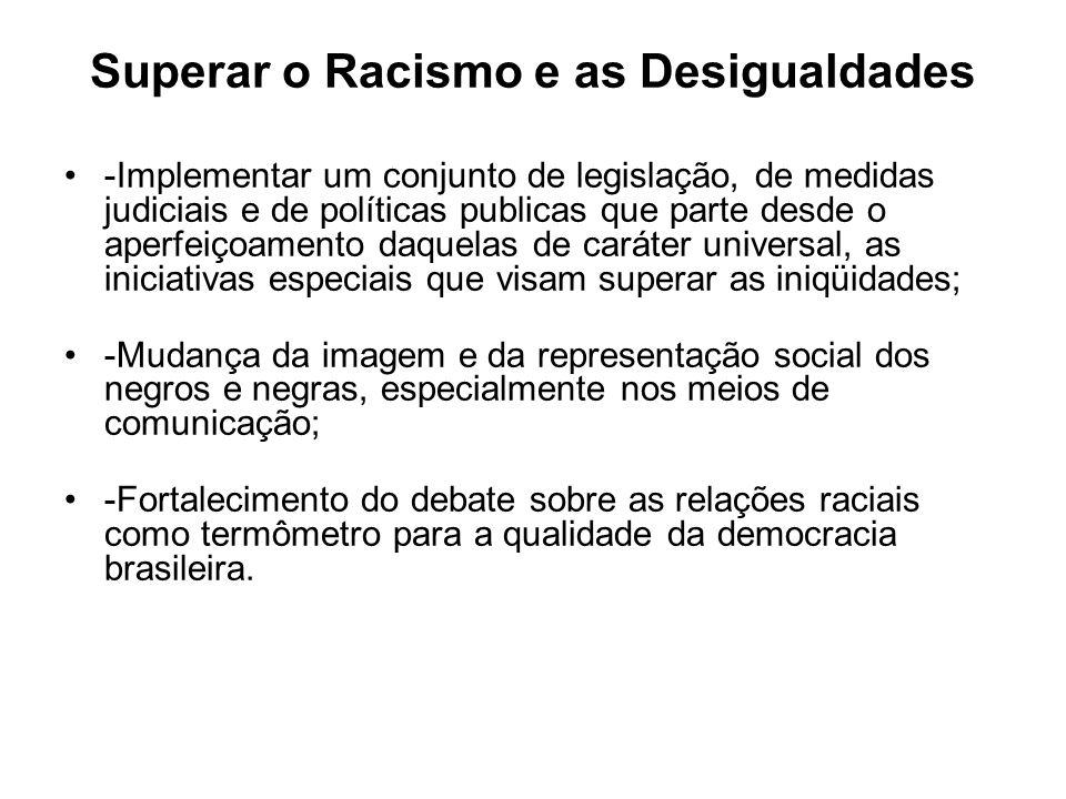 Superar o Racismo e as Desigualdades