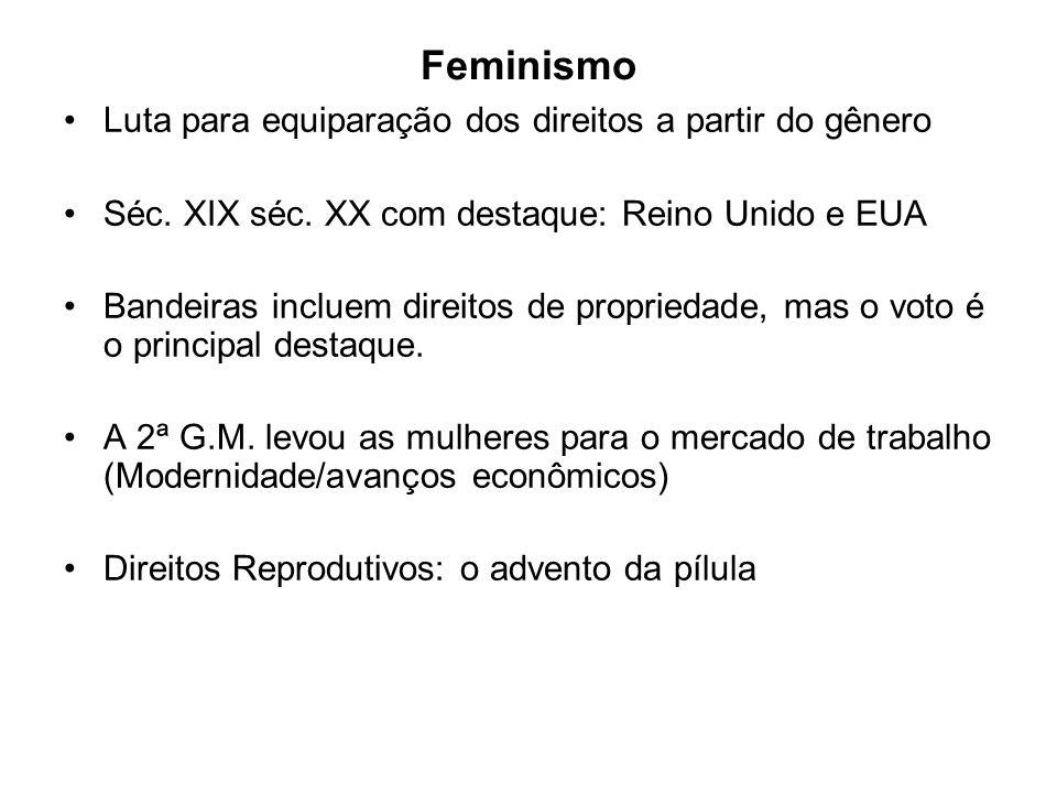 Feminismo Luta para equiparação dos direitos a partir do gênero