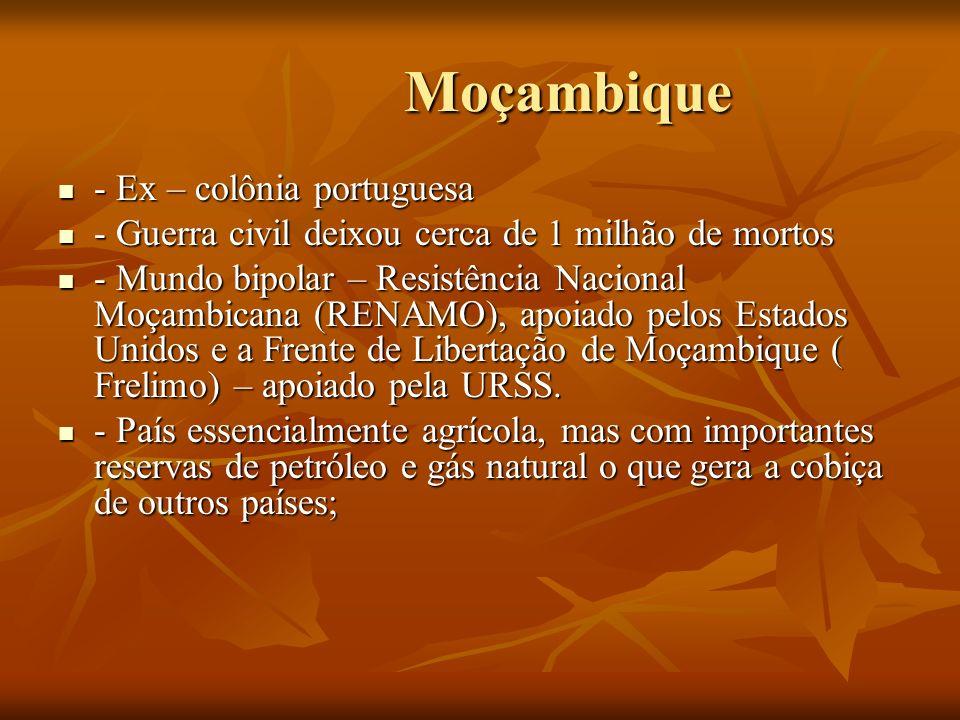 Moçambique - Ex – colônia portuguesa
