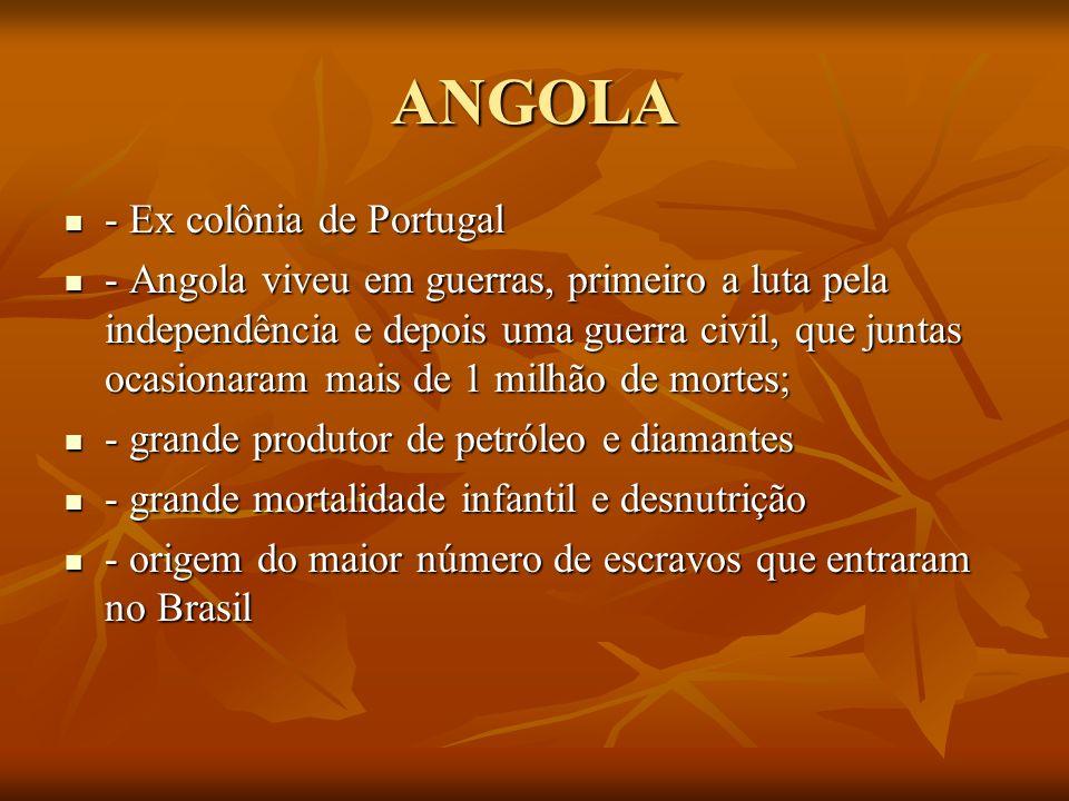 ANGOLA - Ex colônia de Portugal