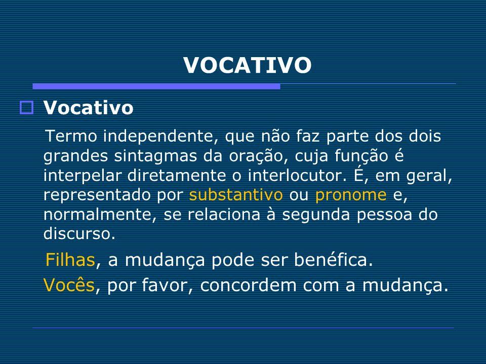 VOCATIVO Vocativo.