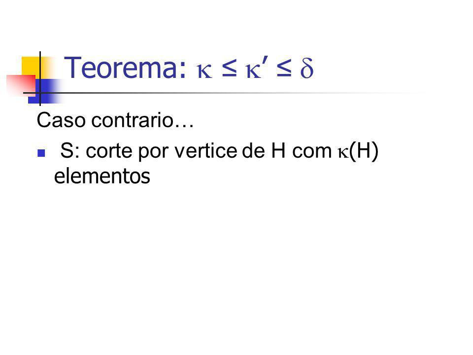 Teorema:  ≤ ' ≤  Caso contrario…