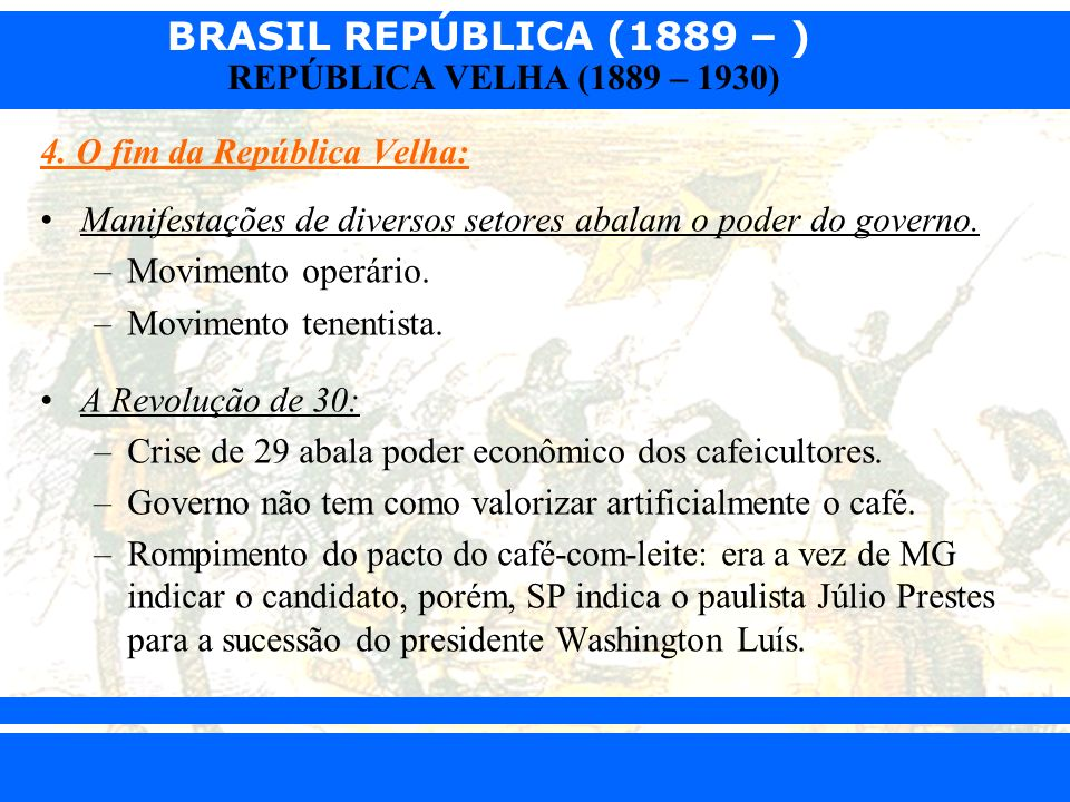 4. O fim da República Velha: