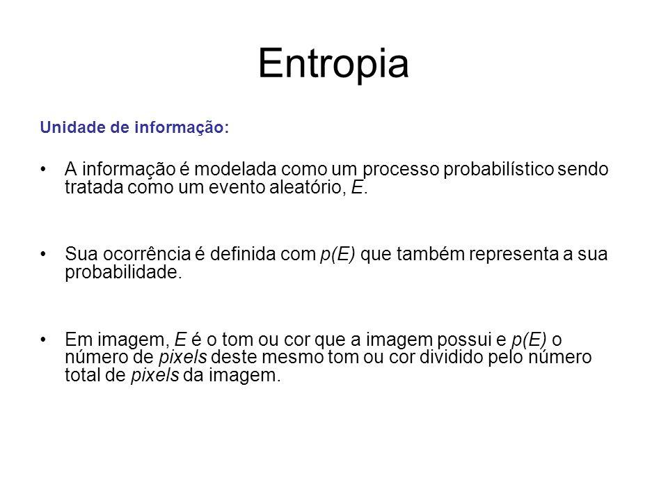 EntropiaUnidade de informação: A informação é modelada como um processo probabilístico sendo tratada como um evento aleatório, E.