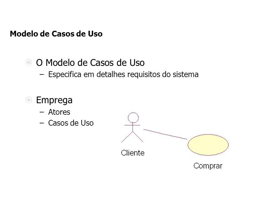 O Modelo de Casos de Uso Emprega Modelo de Casos de Uso