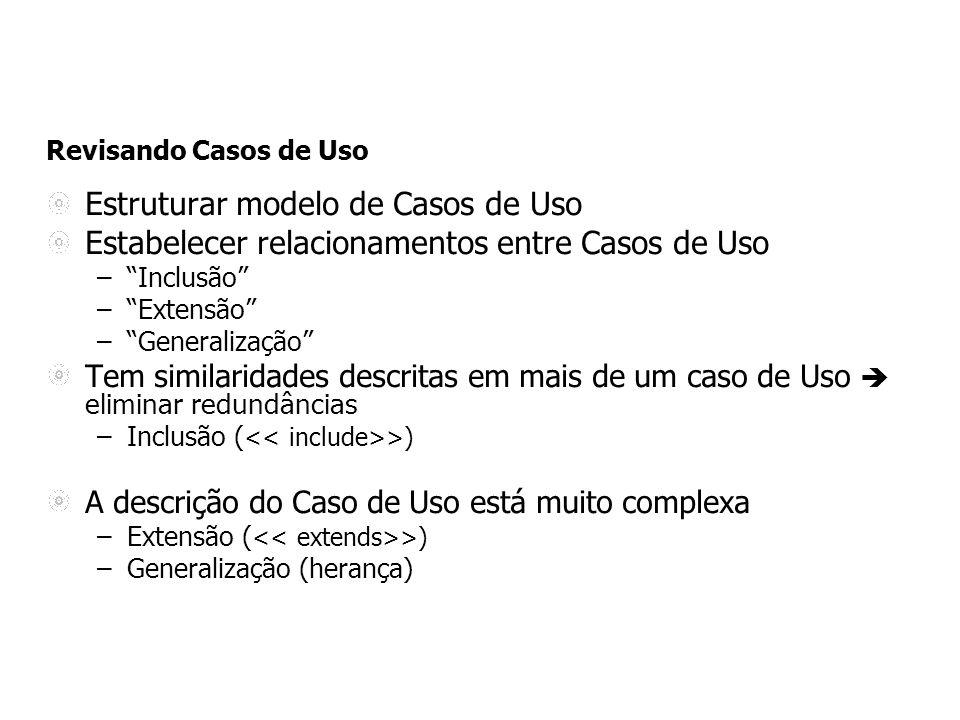 Estruturar modelo de Casos de Uso
