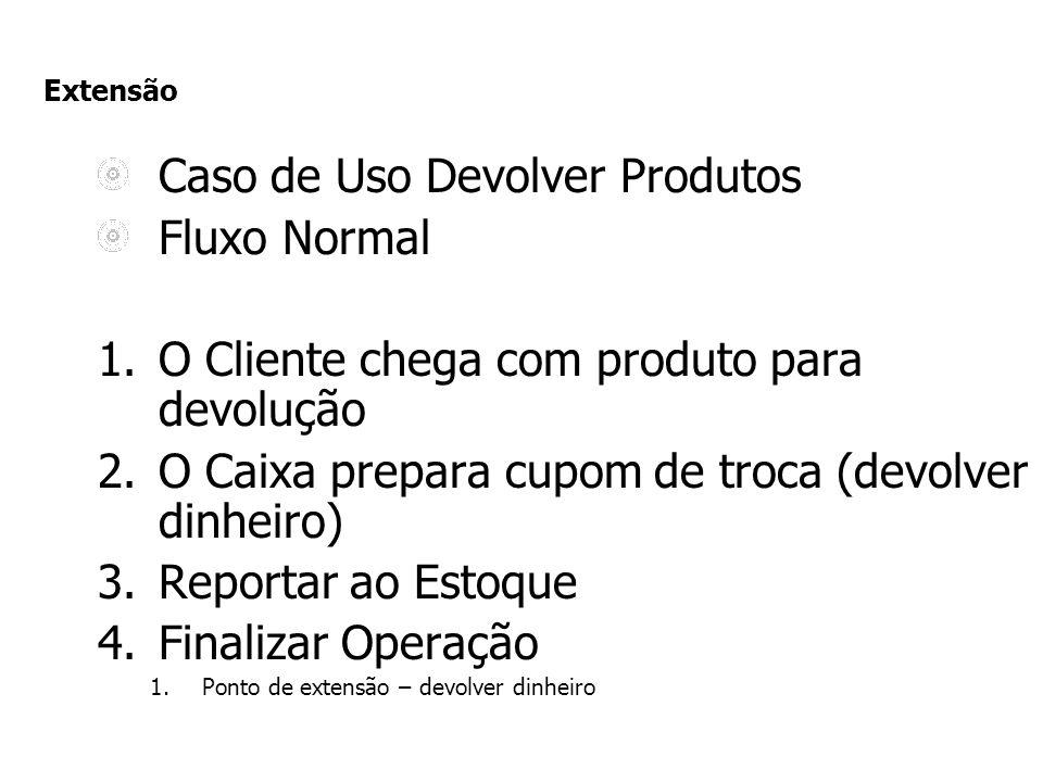 Caso de Uso Devolver Produtos Fluxo Normal