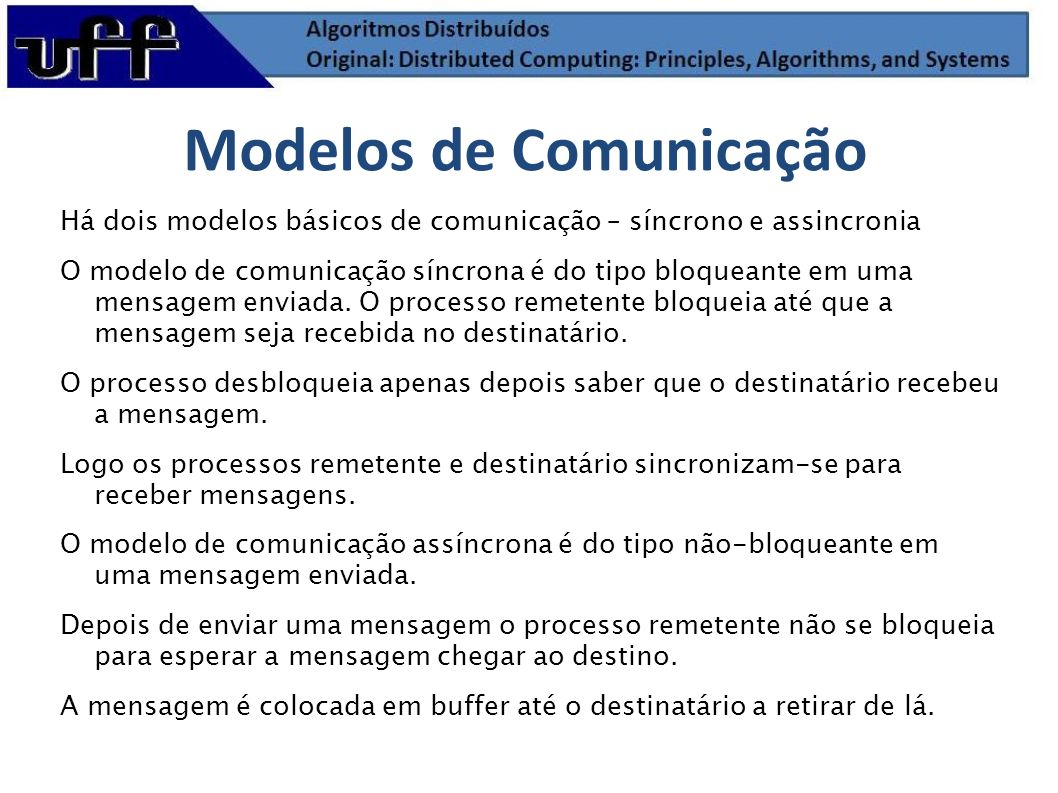 Modelos de Comunicação