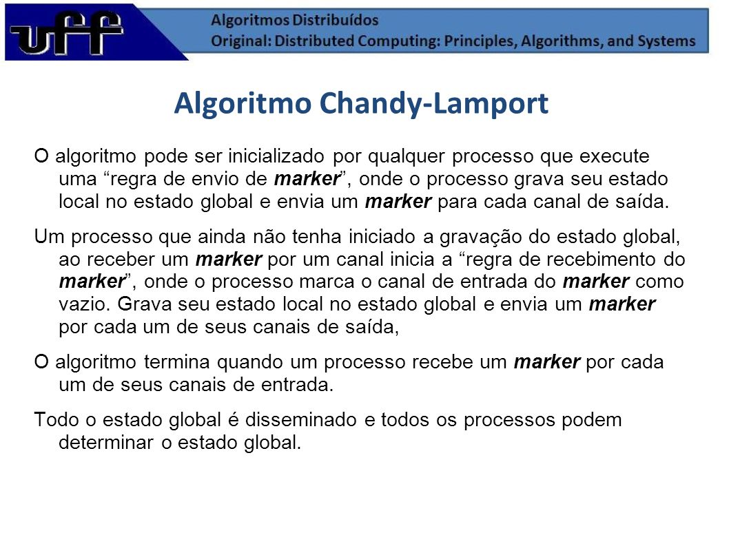Algoritmo Chandy-Lamport