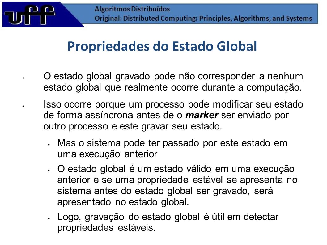 Propriedades do Estado Global