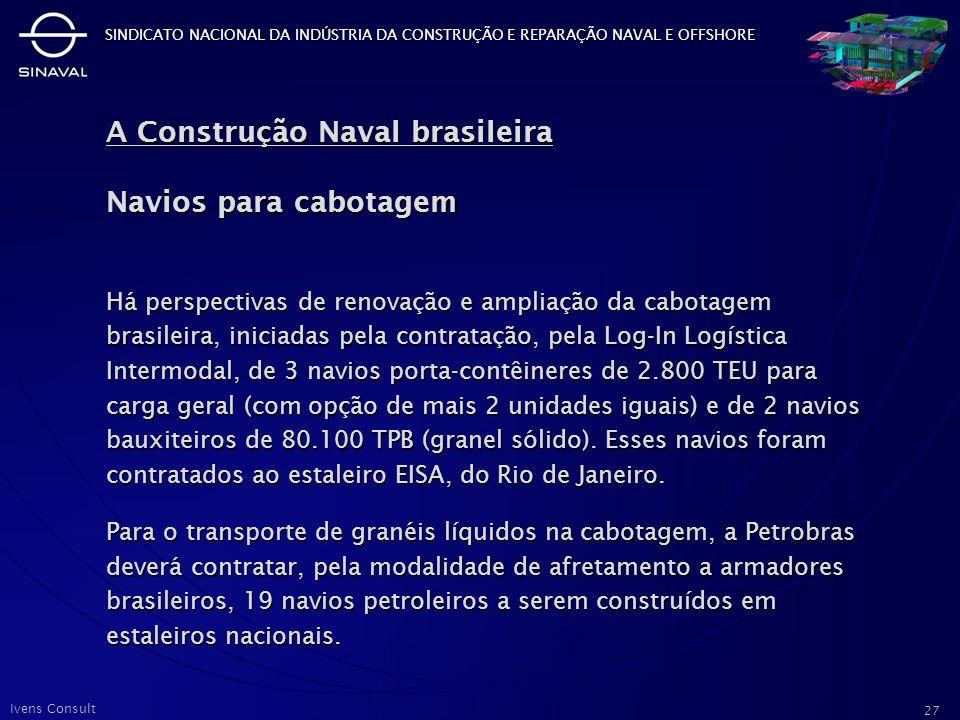 A Construção Naval brasileira Navios para cabotagem