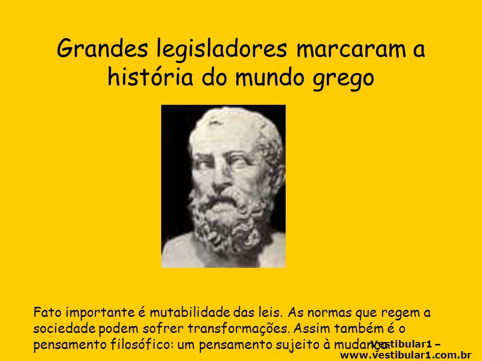 Grandes legisladores marcaram a história do mundo grego