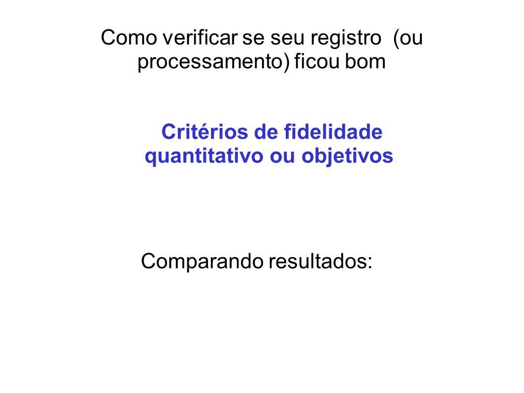 Como verificar se seu registro (ou processamento) ficou bom