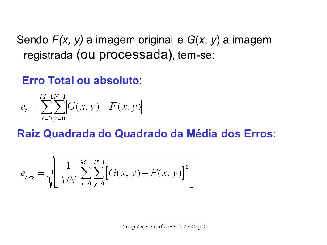 Computação Gráfica - Vol. 2 - Cap. 8