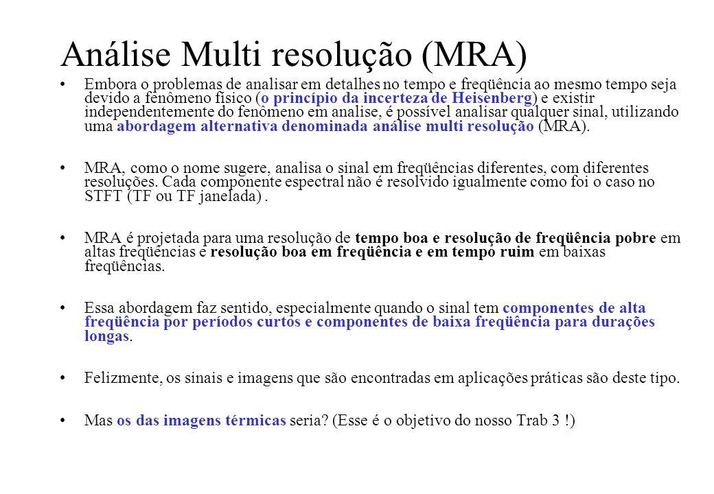 Análise Multi resolução (MRA)