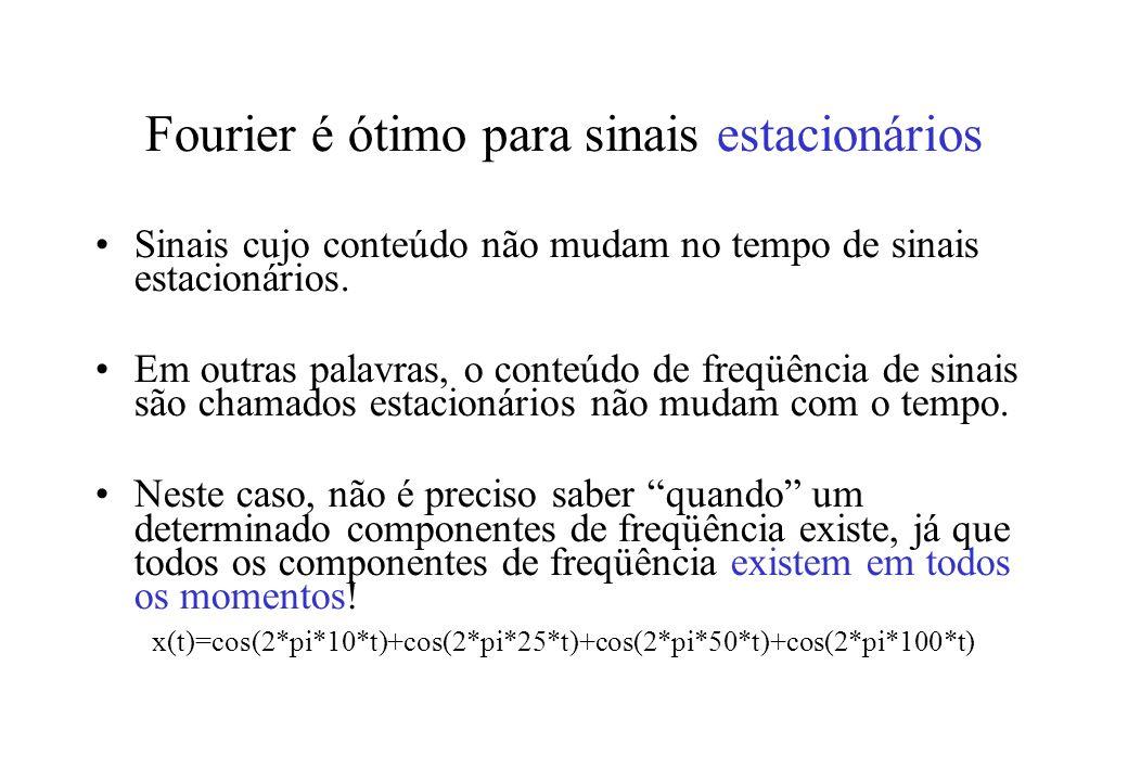 Fourier é ótimo para sinais estacionários