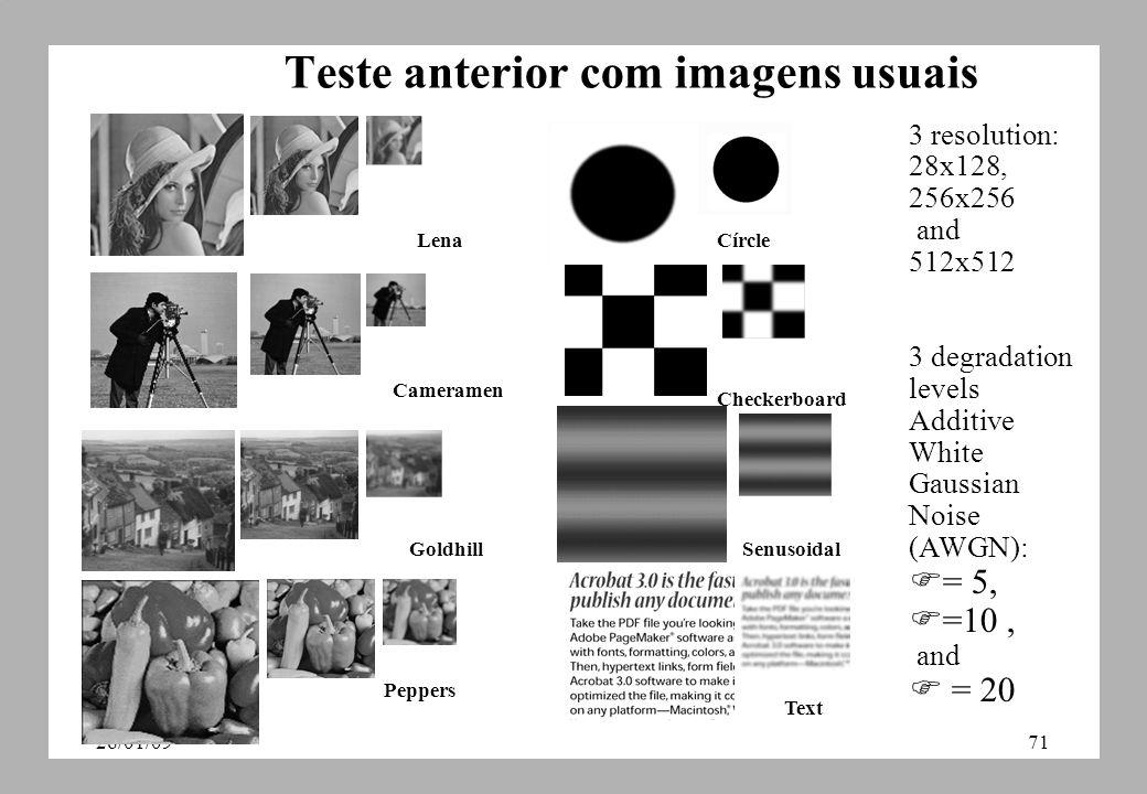 Teste anterior com imagens usuais