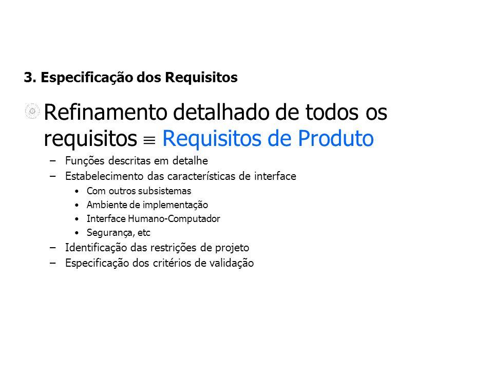 3. Especificação dos Requisitos