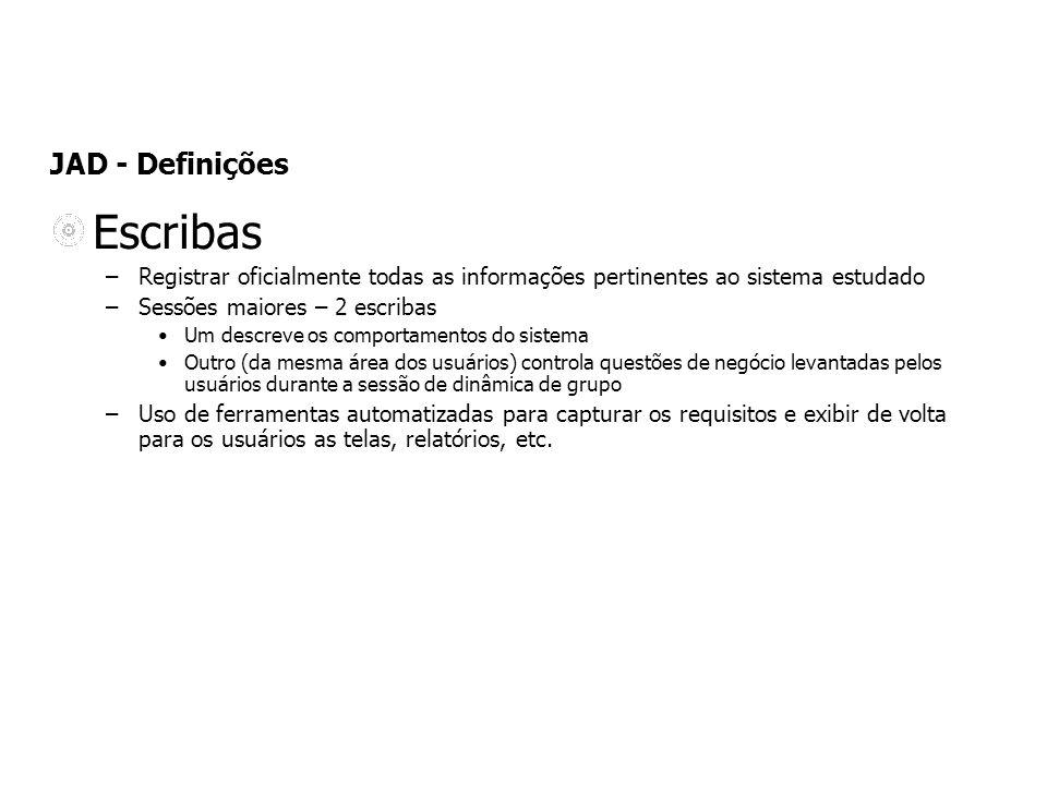 Escribas JAD - Definições