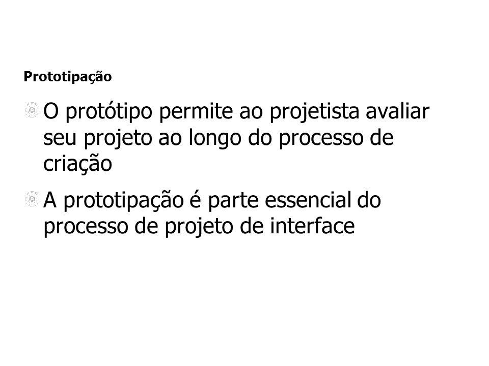 A prototipação é parte essencial do processo de projeto de interface