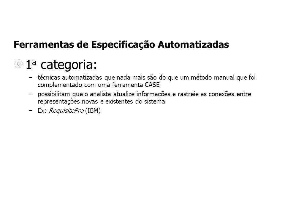 Ferramentas de Especificação Automatizadas