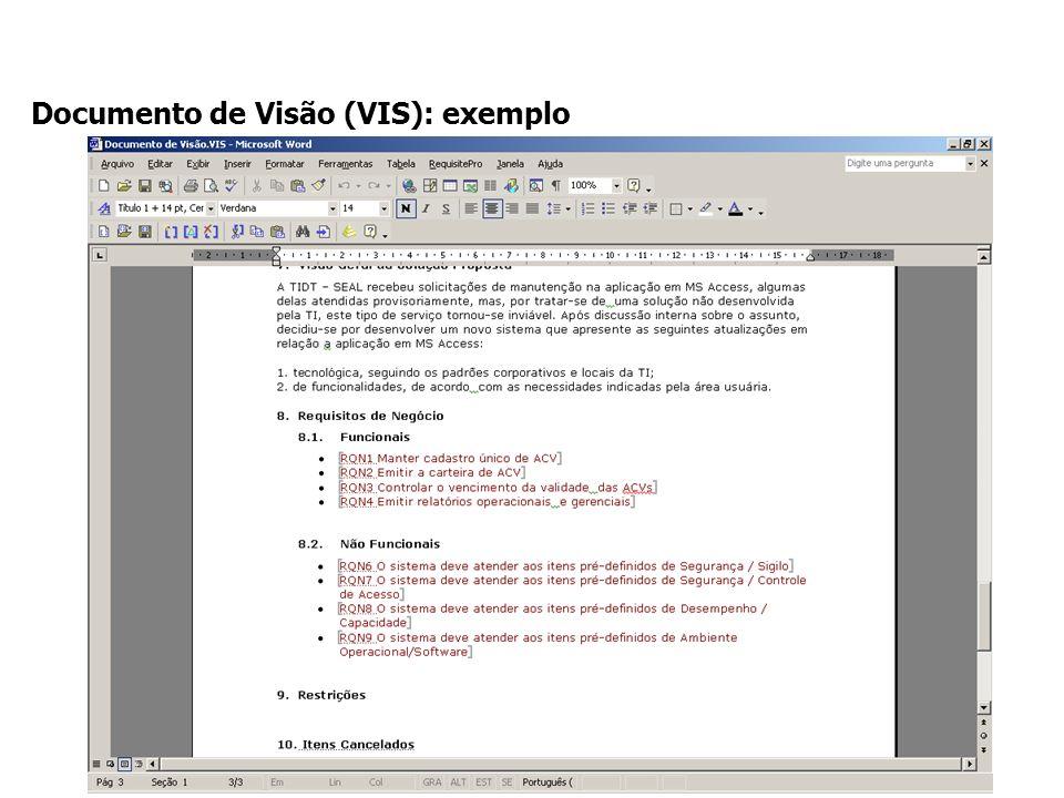 Documento de Visão (VIS): exemplo