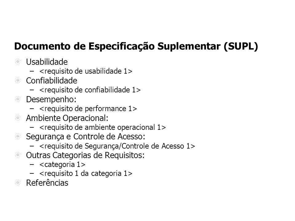 Documento de Especificação Suplementar (SUPL)