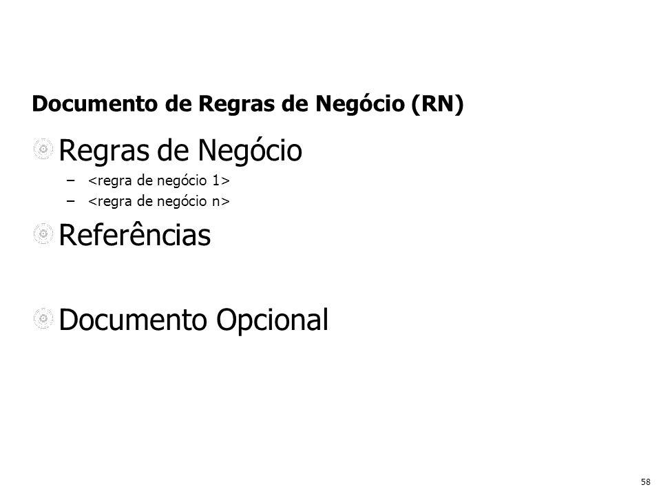 Documento de Regras de Negócio (RN)