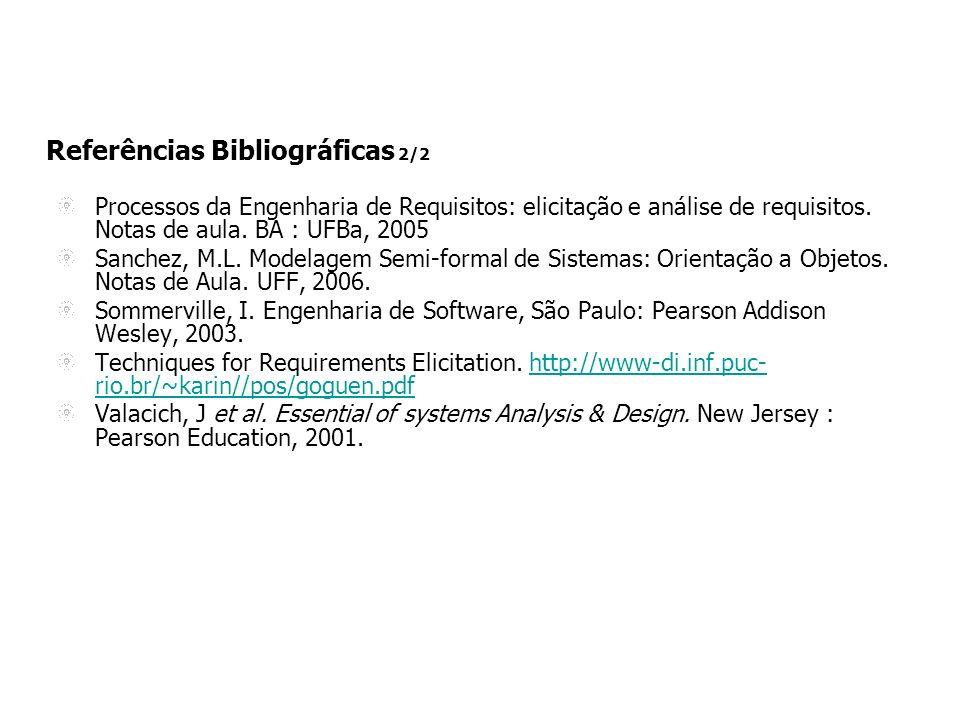 Referências Bibliográficas 2/2