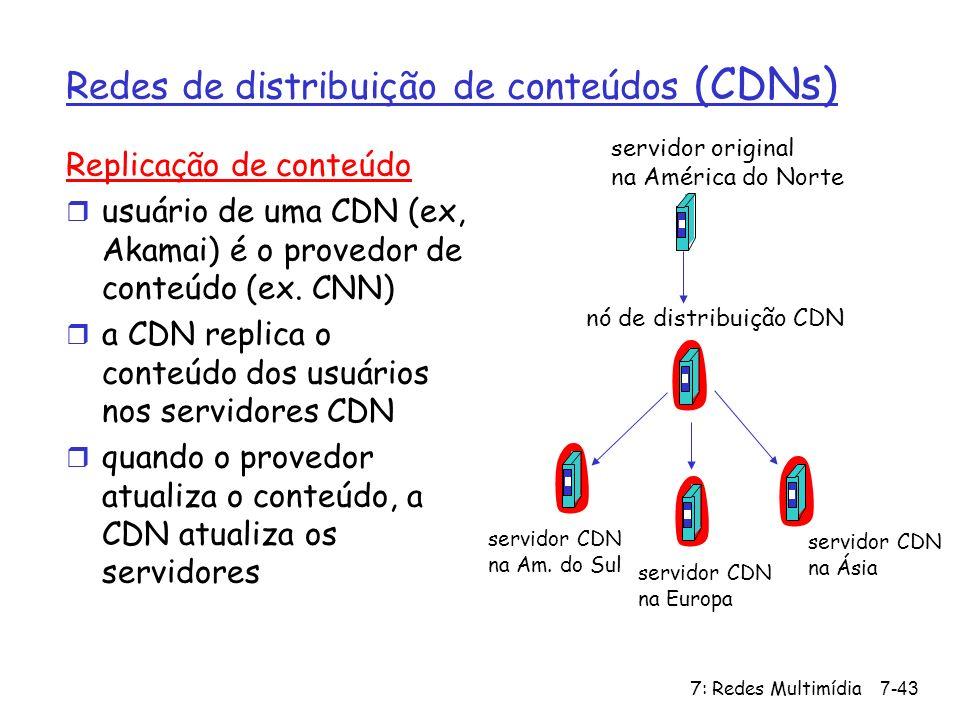 Redes de distribuição de conteúdos (CDNs)