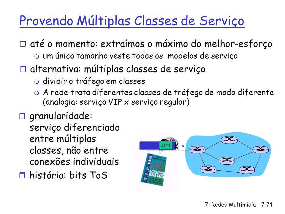 Provendo Múltiplas Classes de Serviço